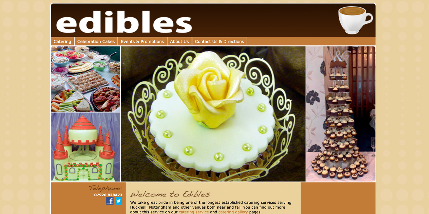 view the Edibles Cafe Website (archived site)